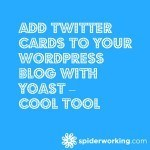 Add Twitter Cards To Your WordPress Blog With Yoast – Cool Tool