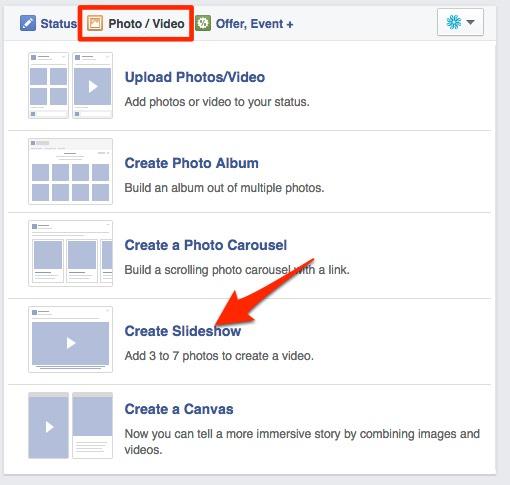 facebook slideshow video