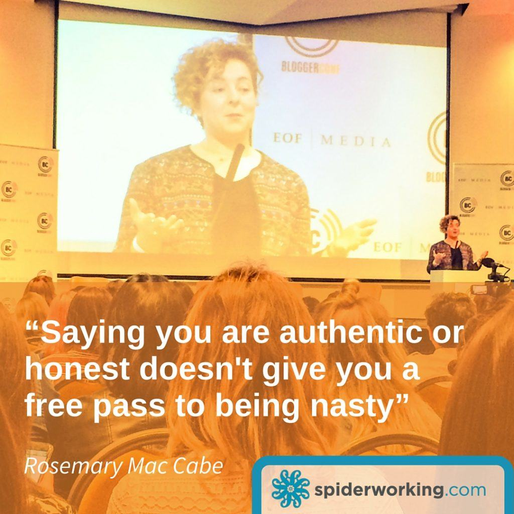 rosemary mac cabe on being nice