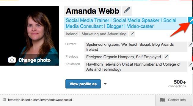 update linkedin professional profile