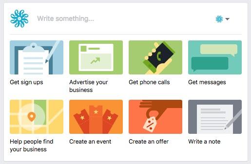 New simplified Facebook status update box