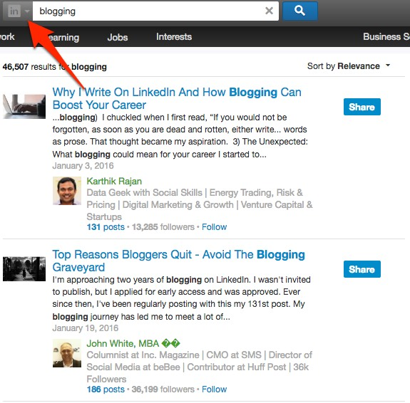 Find LinkedIn posts related to your topic of interest