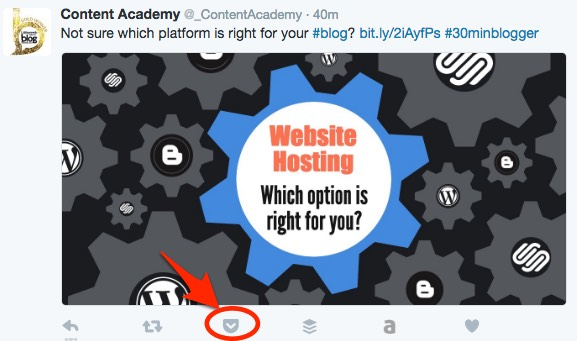 Use Pocket to bookmark articles from Twitter