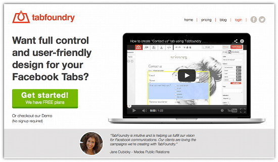 Create Lead Generation Tabs on Facebook With TabFoundry