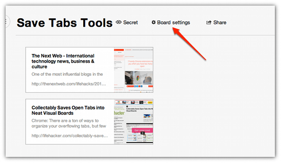 Save All Your Open Tabs To A Visual Board With Collectably