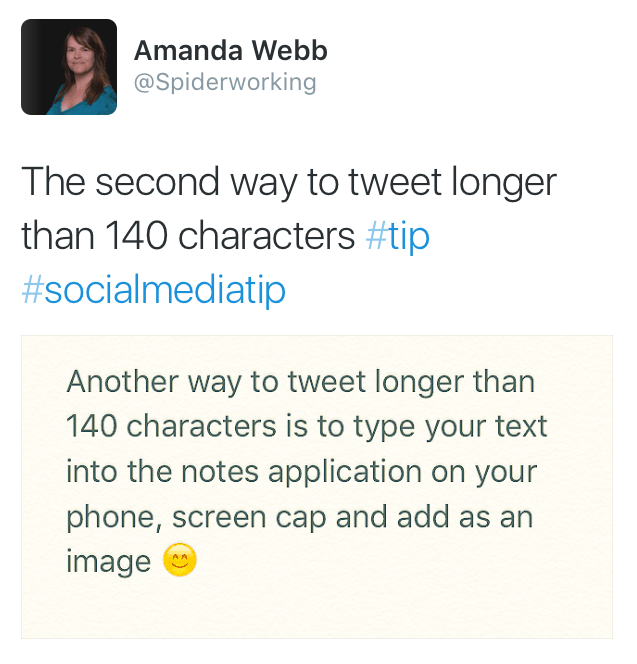 tweet longer than 140 method 2