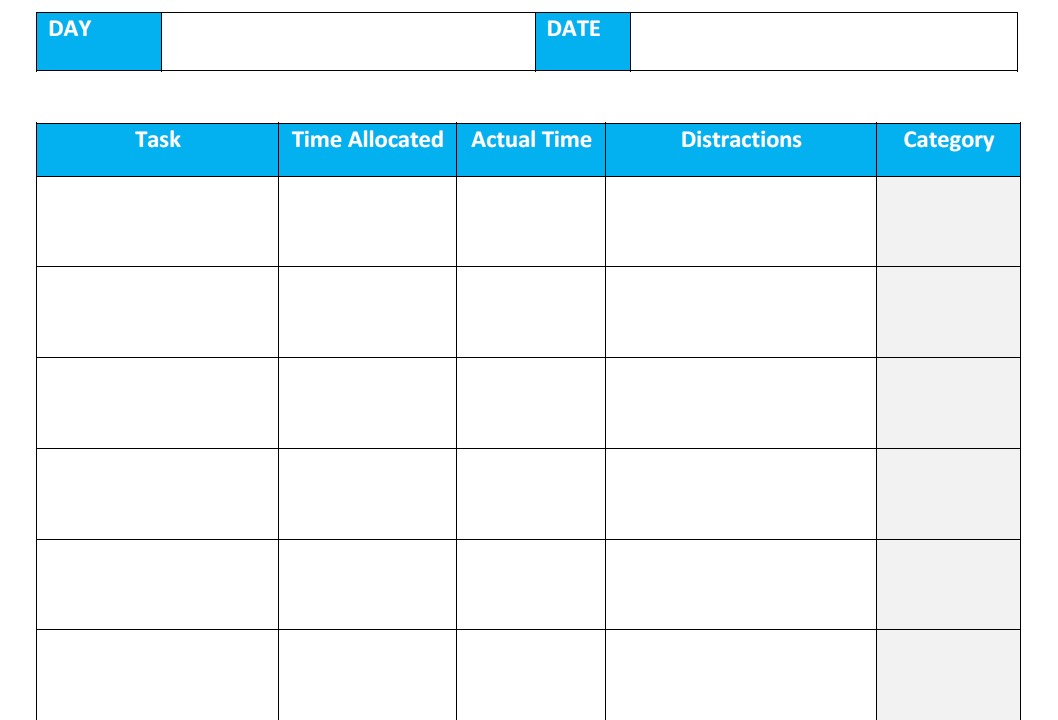 Use the timesheet to audit your time