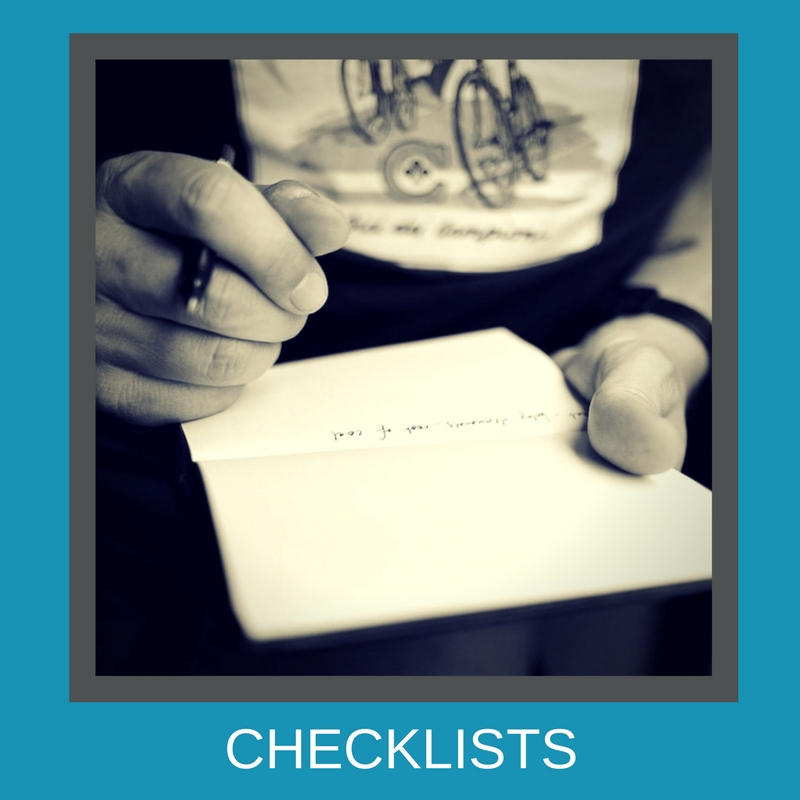 Create checklists to be more productive with your time
