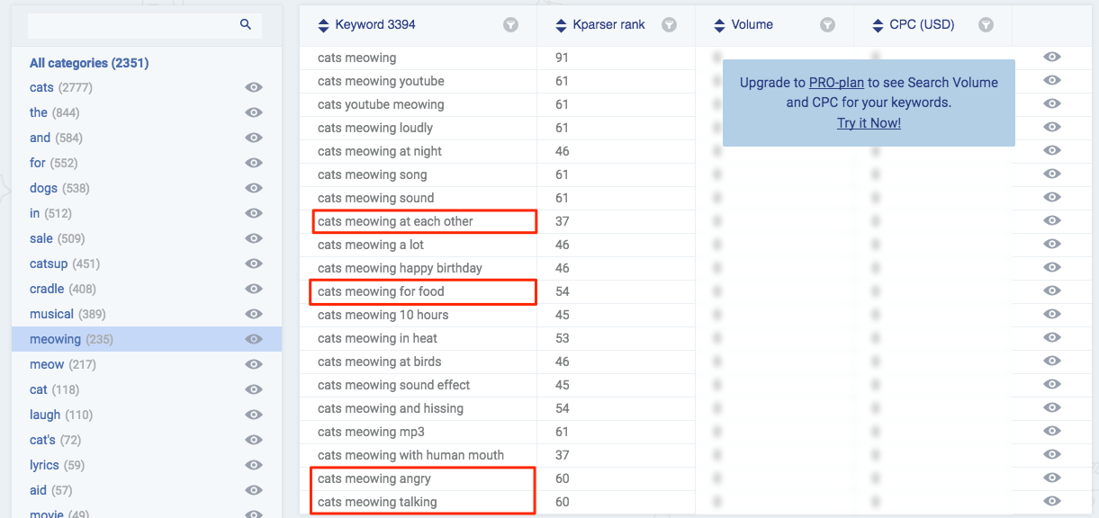 Kparser gives you lots or related and long tail keywords