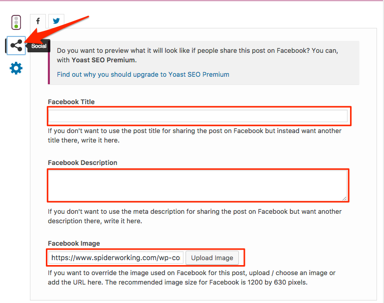 Choose your Facebook link preview with Yoast